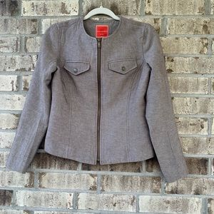 Isaac Mizrahi brown jacket size s